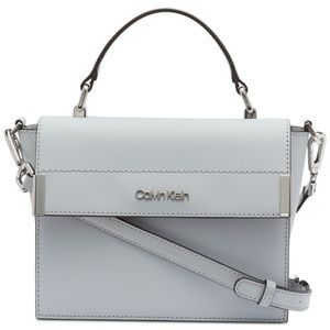 CALVIN KLEIN LEATHER Raelynn Saffiano Top Handle